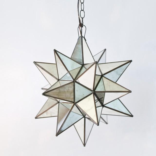 Worlds Away Antique Mirror Star Chandelier Pendant