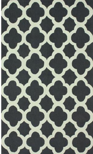 Trellis Charcoal Nallah Rug modern-rugs