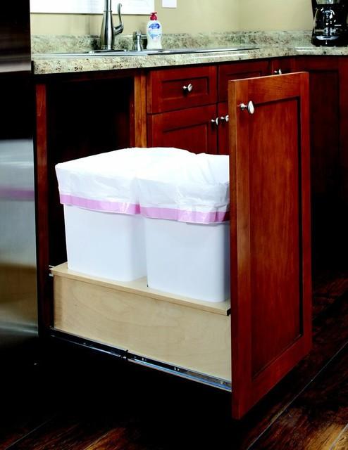 Roll Out Trash Bin - Kitchen Drawer Organizers - detroit - by ShelfGenie of Detroit