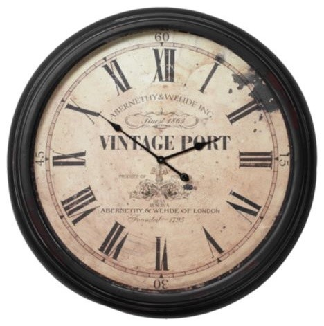 Vintage Port Wall Clock Contemporary Wall Clocks By