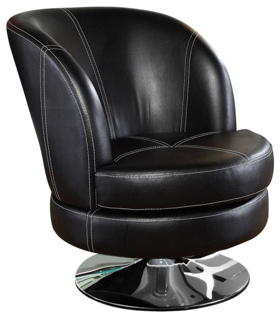 Torino swivel accent chair contemporary armchairs and for Modern swivel accent chair