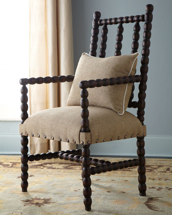 """""""Bobbin"""" Chair Traditional Armchairs And Accent Chairs"""