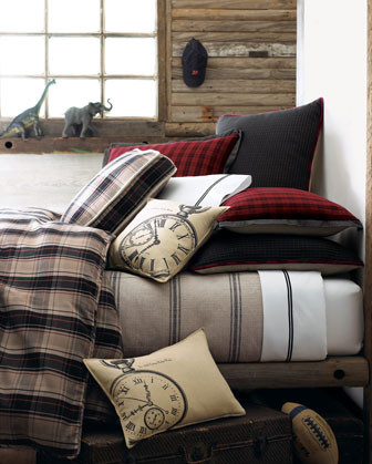 French Laundry Home Kent Bed Linens Plaid Twin Duvet Cover traditional-sheets