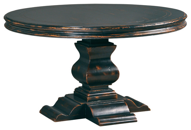 round dining table 48 antique ebony transitional dining tables