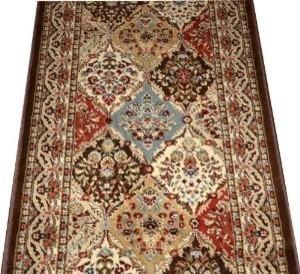 Dean Panel Kerman Chocolate Carpet Rug Hallway Runner Sold By The Foot Tr