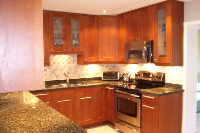 Kitchen Ideas Medium Brown Cabinets