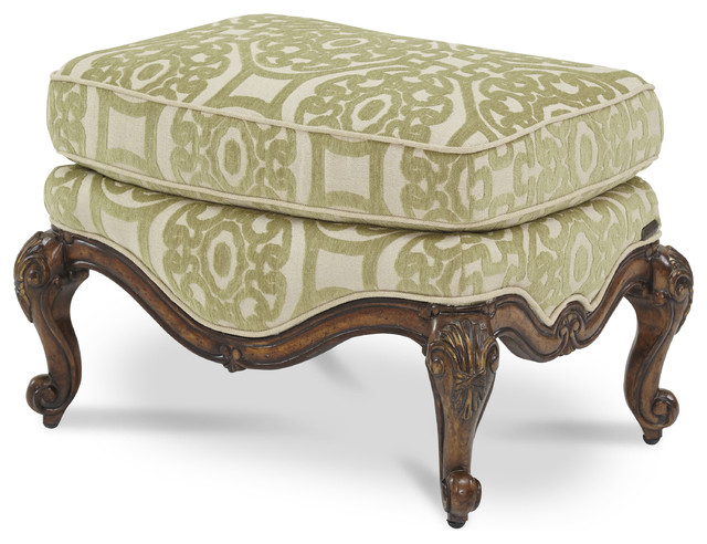 Lavelle Melange Bergere Chair Ottoman  - Celery traditional-footstools-and-ottomans