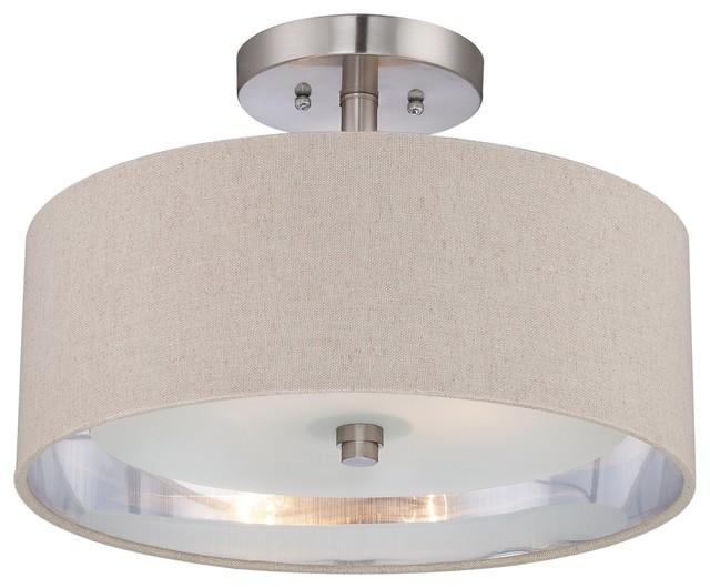 Quoizel CKMO1716BN Metro Semi Flush Mount Ceiling Light Contemporary Flus