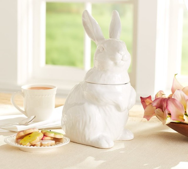 Bunny Cookie Jar - Contemporary - Kitchen Canisters And Jars - by Pottery Barn