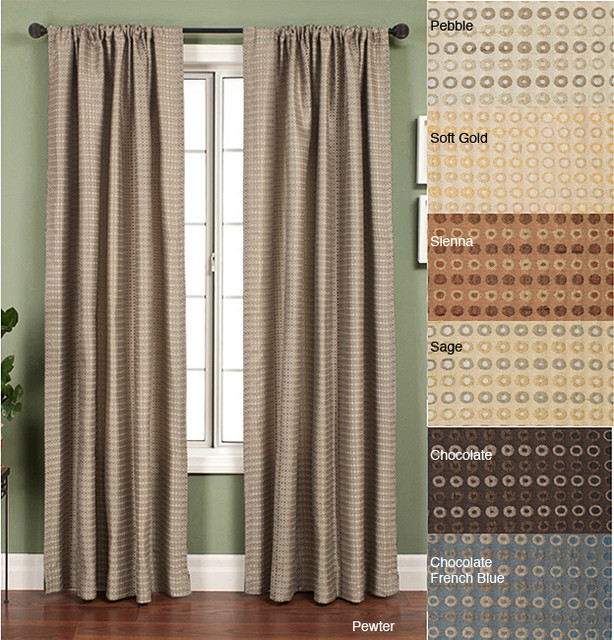 Jaipur circle rod pocket 120 inch curtain panel for 120 inch window treatments