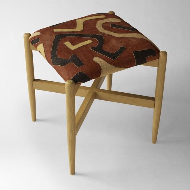 Kuba Stool, Patchwork contemporary ottomans and cubes