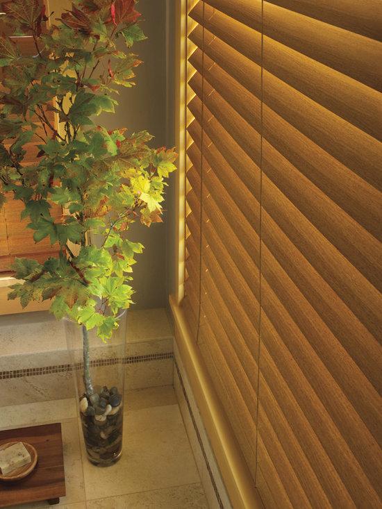 EverWood® alternative wood blinds tilted - Hunter Douglas EverWood® Collection Copyright © 2001-2012 Hunter Douglas, Inc. All rights reserved.