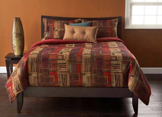 arts and crafts contemporary bedding set by sis covers modern beds. Black Bedroom Furniture Sets. Home Design Ideas