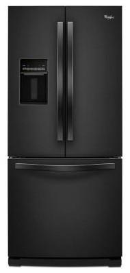 Whirlpool Refrigerator. 30 in. W 19.6 cu. ft. French Door Refrigerator in Black contemporary-refrigerators
