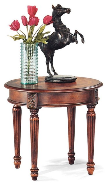 The Magnussen 13800 Sedona Wood Round End Table is an ideal fit to help fill tha traditional-side-tables-and-end-tables