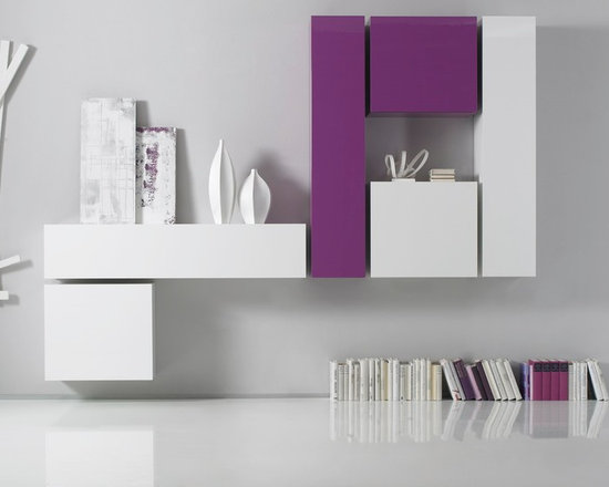 Modern Italian Wall Unit Box Combi 6 - $1,374.00 - Modern Italian Wall Unit Box Combi 6 is designed and manufactured in Italy by LC Mobili and available in 7 different finishes.