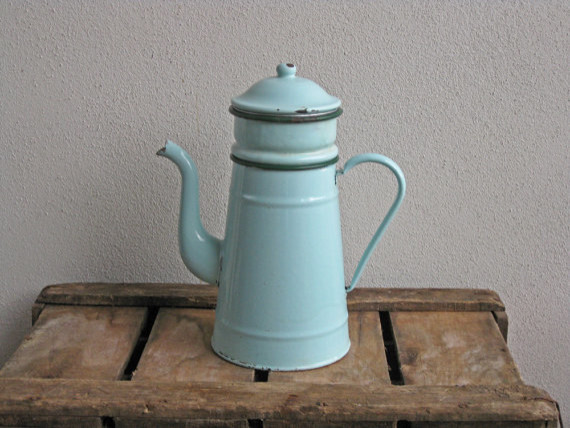 How To Use Vintage Coffee Maker :  Biggin Mint Green French Enamel Coffee Pot by Histoires - Traditional - Coffee Makers - by Etsy