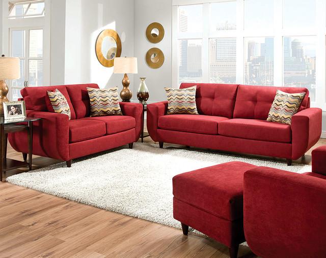 Killington Cayenne Sofa And Loveseat Set Transitional