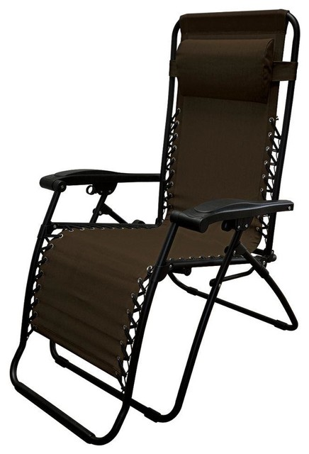 Caravan Sports Chairs Infinity Oversize Brown Zero Gravity Patio Chair Cont