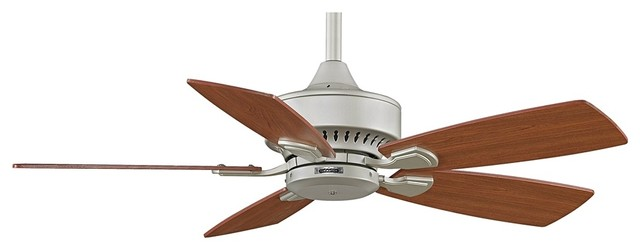 "Transitional 42"" Fanimation Cancun Satin Nickel Ceiling Fan traditional-ceiling-fans"
