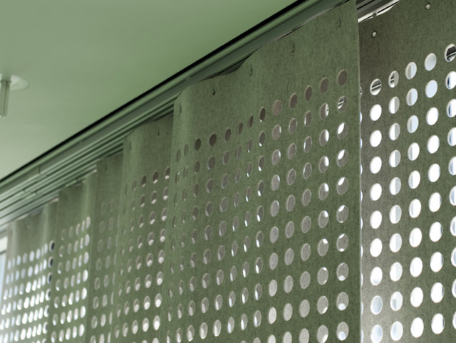 Wool Felt Perforated Panel Set modern-curtains