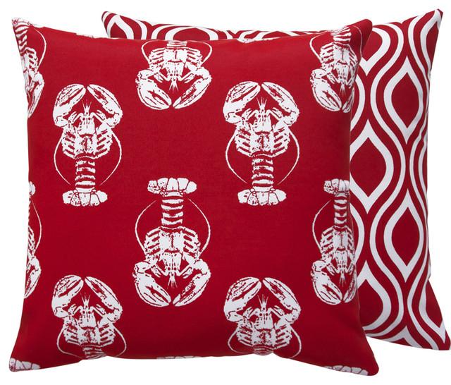 Lobster Outdoor Throw Pillow, 18x18
