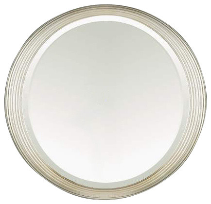 Satin nickel bathroom mirror