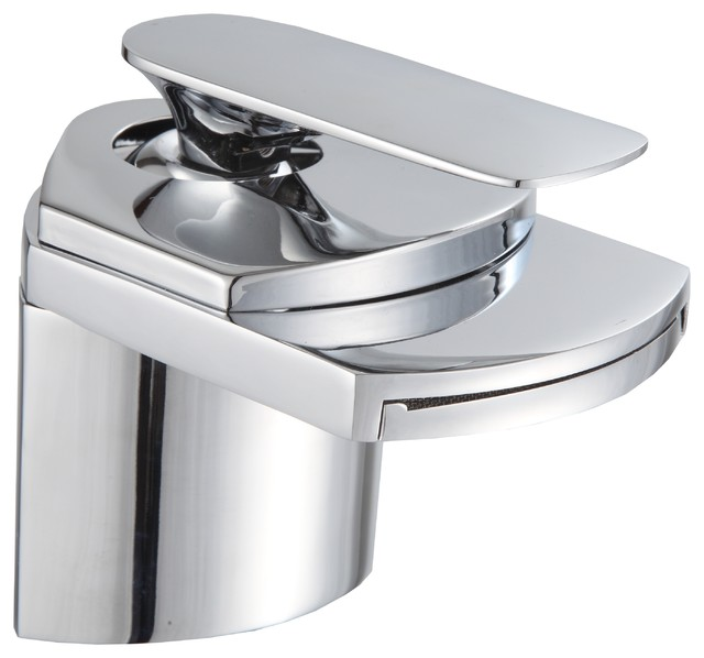Gallery Bathroom Sink Chrome Waterfall Faucet contemporary-bathroom-faucets-and-showerheads