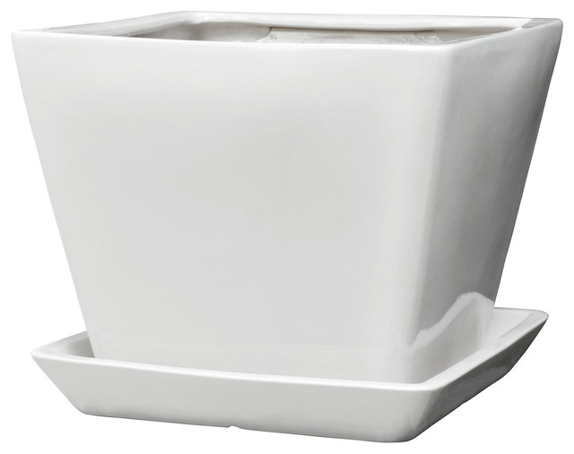 Tross plant pot with saucer contemporary indoor pots and planters by ikea - Indoor plant pots with saucers ...