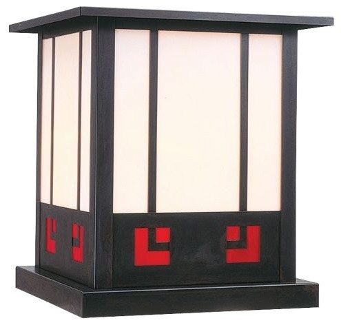 State street column mount by arroyo craftsman modern for Modern craftsman lighting