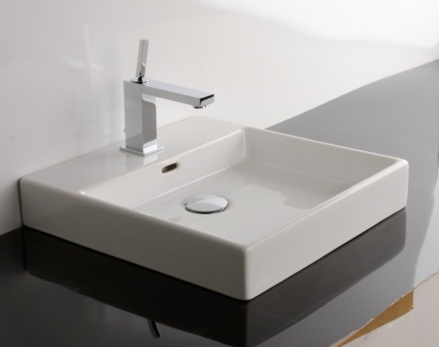 Plain 45A Counter Top Sink 17 7 Contemporary Bathroom Sinks
