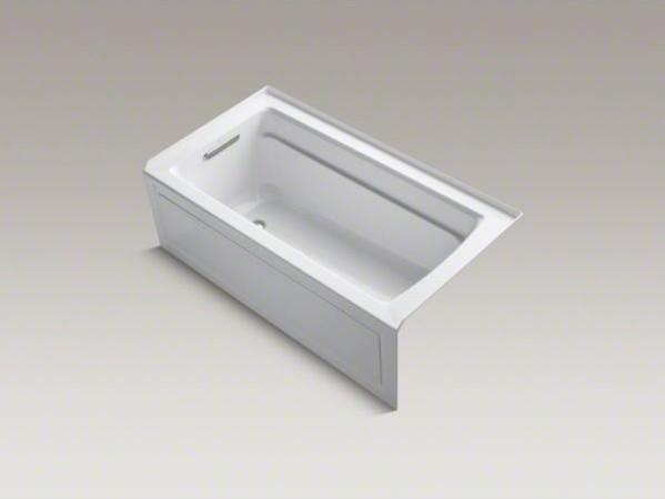 """KOHLER Archer(R) 60"""" x 32"""" alcove BubbleMassage(TM) Air Bath with integral apron contemporary-bathtubs"""