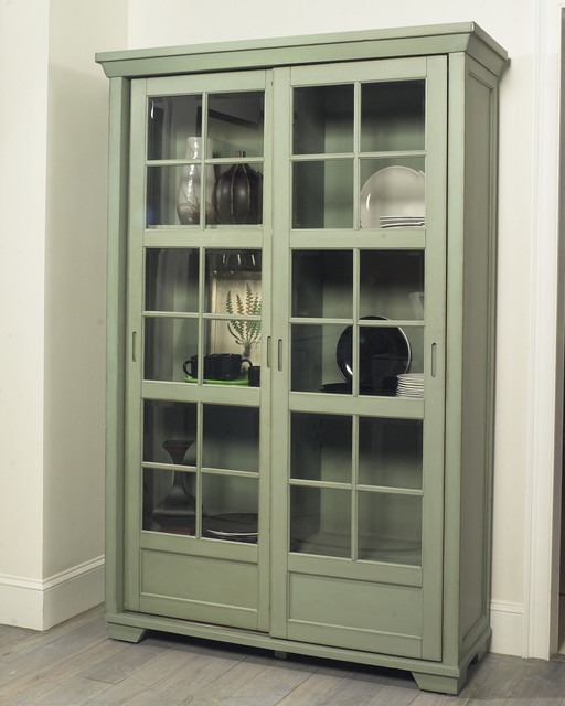 Jonathan David Library Cabinet with Sliding Doors - Eclectic - Pantry Cabinets - other metro ...