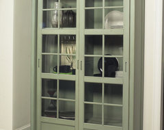 Jonathan David Library Cabinet with Sliding Doors eclectic-pantry