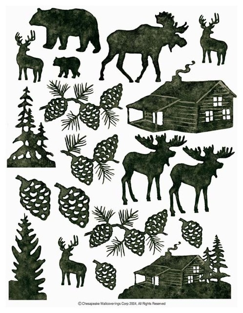 Lodge Silhouettes 2 Sheet Ideastix Accents Peel And Stick