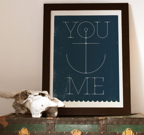 You Anchor Me Print contemporary artwork