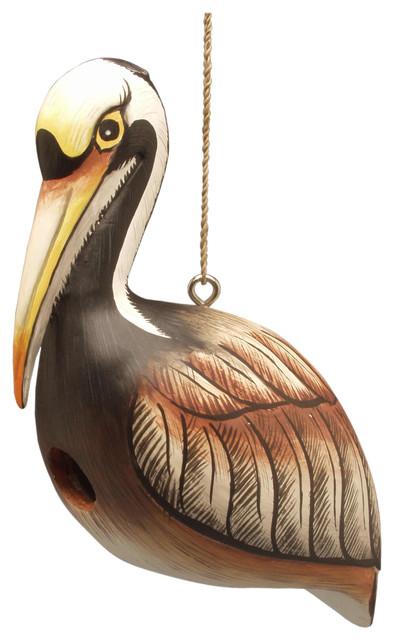 Brown Pelican Birdhouse modern-birdhouses