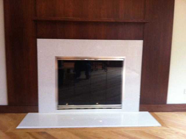 Plain Sawn Hickory Fireplace Mantel