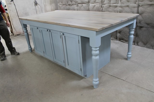 Ktichen Island Light Blue farmhouse kitchen islands and kitchen carts