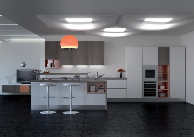 Cucina gola by dema cucine aspirational affordable kitchens for Affordable modern kitchen cabinets