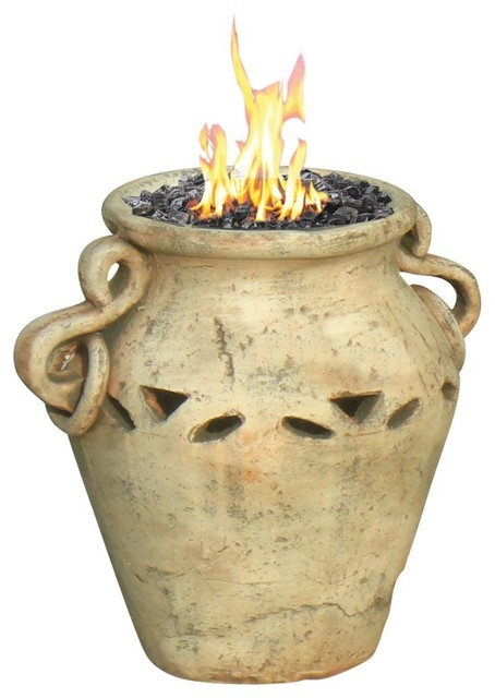 Aria Ceramic Propane Tabletop Firebowl eclectic-fire-pits