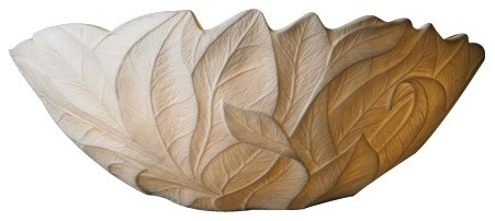 "Country - Cottage Limoges Collection Leaves 12 3/4"" Wide Pocket Wall Sconce traditional-wall-lighting"