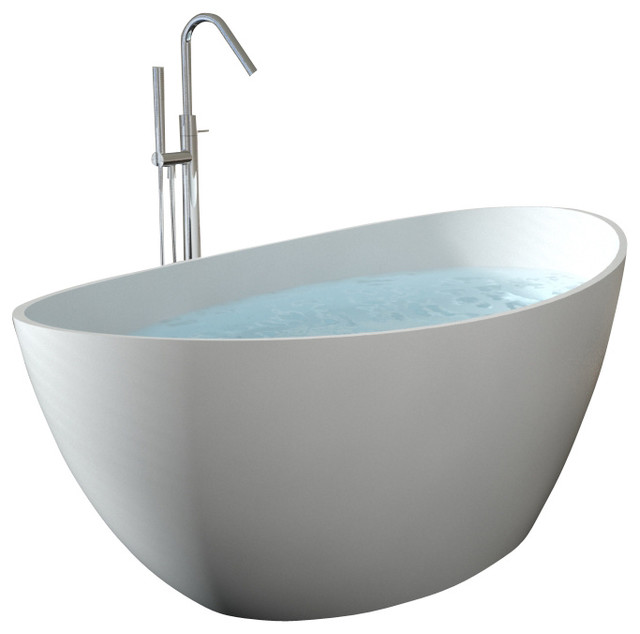 Http Www Houzz Com Photos 8102499 Modern Oval Shaped Stone Resin Freestanding Bathtub Matte Extra Large Modern Bathtubs