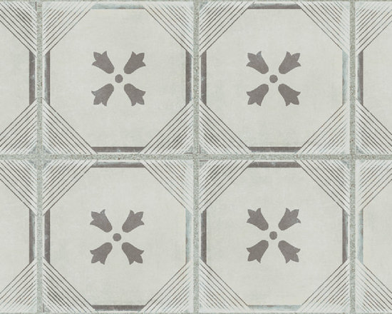 GREY DYNASTY DECO 12X24 - The Palazzo collection provides a multi-faceted dynamic of old world charm and modern beauty with three beautiful colors and four unique decorative designs. Trim options and mosaics also available.