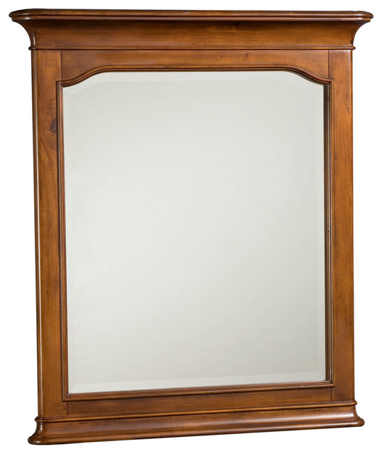 American Drew Classics Rectangular Mirror in Brown Cherry traditional-mirrors