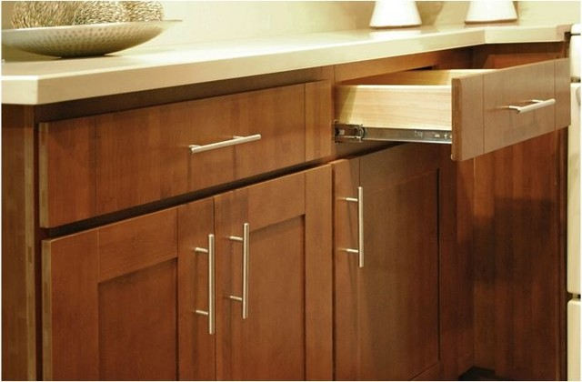 Carbonized Bamboo Kitchen Cabinets - Modern - Kitchen Cabinetry - other metro - by RTA Cabinet Store