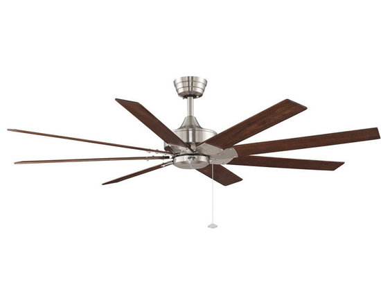 """Fanimation - Fanimation FP7910BN Brushed Nickel with Cherry / Walnut Blades Levon - Features:Includes 8 Reversible Wood BladesLight Kit CompatibleSturdy Solid Wood Blades will Provide a Lifetime of BeautyCovered Under Lifetime WarrantyAdd enchanting class with the Levon 63"""" Indoor Ceiling Fan by FanimationDownrod(s) Included for Ease of InstallationSuitable for Dry LocationBlade Specifications:Number of Blades: 8Blade Span: 63""""Blades Included: YesBlade Pitch: 14 Degrees (The Angle of Attack of the Blades; Steeper Blades Move More Air)Light Kit Specifications:Light Kit Included: NoLight Kit Compatible: YesAir Flow Specifications:Motor Size: 188mm x 25mmSpeeds: 3CFM (High): 3 (The Volume of Air Moved by the Fan in Cubic Feet Per Minute)Airflow Efficiency: 107 (Cubic Feet Per Watt on High (Volume of Air Moved Per Watt of Energy Used)Other Product Specifications:Overall Height: 15"""" (The Distance from the Bottom of the Fixture to the Ceiling)Downrod(s) Included: YesDownrod Size(s): 6""""Energy Star: YesVoltage: 110Optional Accessories (Sold Separately):LK250 Light KitLKFL250 Light KitLKFL260 Light KitLKLP101 Light KitLKLP102 Light KitLKLP112A Light KitF401 FitterF404 FitterF423 FitterG250 Fan GlassG450 Fan GlassG451 Fan GlassG453 Fan GlassG460LW Fan GlassS480 Fan Glass"""