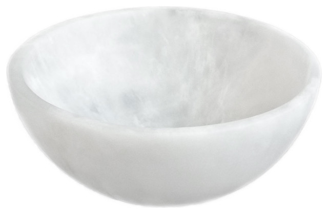 Martha Sturdy resin thick bowl in white marble - Modern - Home Decor - vancouver - by Provide Home