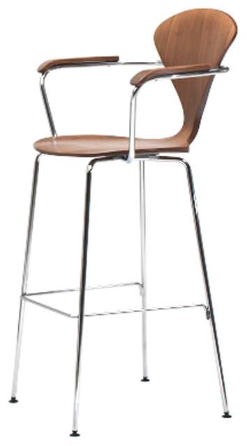 ... Metal Base Stool with Arms - Bar modern-bar-stools-and-counter-stools