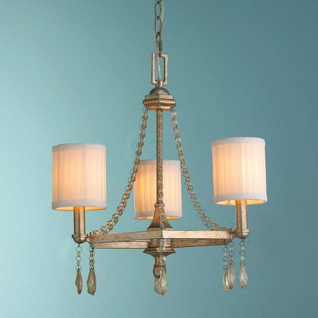 Antiqued Crystal Swag Mini Chandelier - Chandeliers - by Shades of Light
